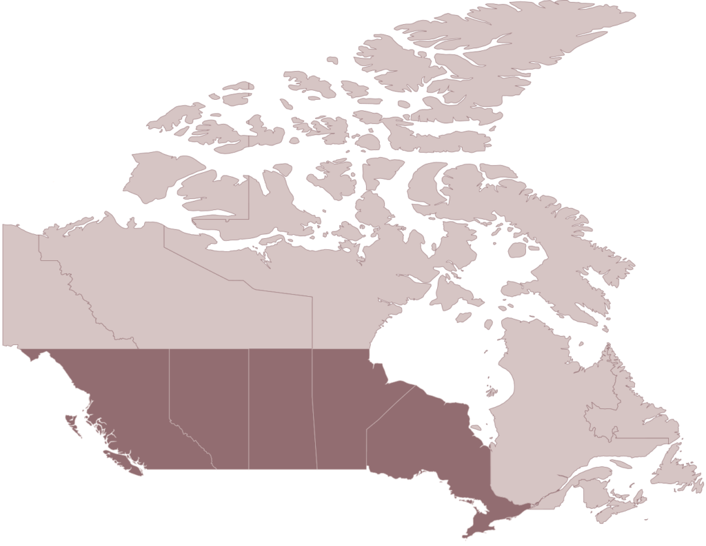 MOPS Canada map