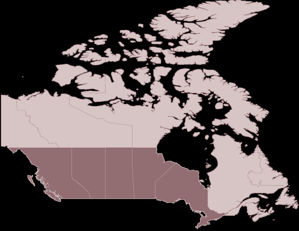 MOPS Canada map
